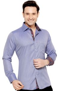 Mens Formal Office Wear Shirt Navy Blue By Corporate Club (code - 50034 03)