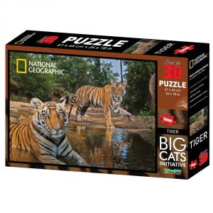 Nat Geo Tiger 500pc Puzzle By Prime 3d (code - P3d-10023)