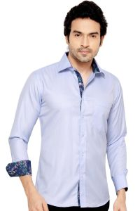 Mens Formal Office Wear Shirt Blue By Corporate Club (code - 50034 02)