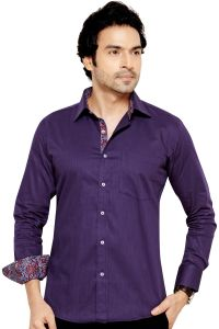 Telco Semi Formal Shirt Wine By Corporate Club (code - Telco 05)