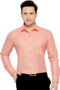 Beetel Mens Formal Office Wear Shirt Orange By Corporate Club (code - Bettel 03)