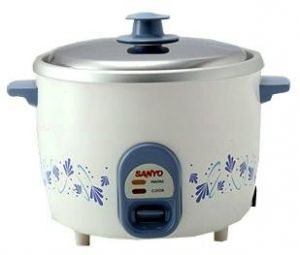 Sanyo 1.8 Liter - Rice Cooker & Vegetable Steamer For 220 Volt