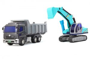 Toyco Quon Super Dump And Shovel Car, A Product From Japan (code - Tsdsc)