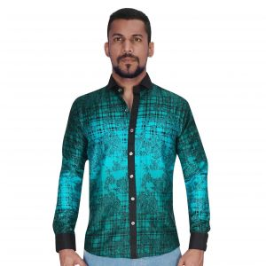 Panel Adjustant Design In Green & Black Color Shirt By Corporate Club (code - Cc - Pp455 - 01)