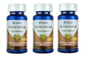 Health Supplements - Zidaa Garcinia Cambogia Natural Weight Loss Supplement, 60 Capsules Each, Pack of 3 (Code - Zidaa-GC_P3)