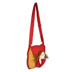 New Heart Girl Sling Bag - Brown & Red - Made In India - By Lovely Toys (code -nhg15)