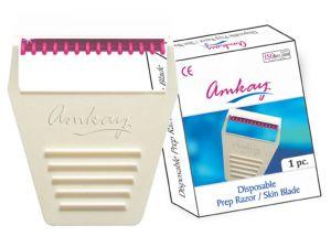Razors, Shaving Kits - AMKAY - Prep Razor Skin Blade ( Per Box 50 Pcs)