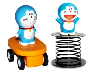 Doraemon Figurine Fun Wheels And Spring By Buddyz