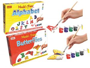 Mould And Paint Do-it-yourself Butterflies And Alphabet For Kids By Buddyz