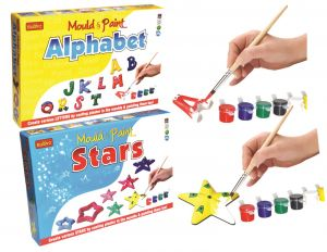 Mould And Paint Do-it-yourself Star And Alphabet For Kids By Buddyz