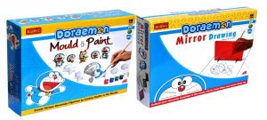 Doraemon Do-it-yourself Mirror Drawing And Mould And Paint For Kids By Budd
