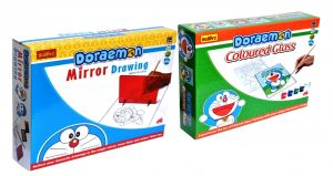 Doraemon Do-it-yourself Mirror Drawing And Coloured Glass For Kids By Buddy