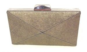 Clutches - Copper Toned Box Shaped Party Clutch with Sling Strap by Boga - (Code - Clutch-PPC11)
