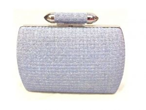 Wallets, Purses - Blue Toned Box Shaped Party Clutch with Sling Strap by Boga - (Code - Clutch-PPC5)
