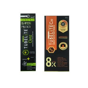 Tubelite Combo For Skin ( Cleanser + Toner 100 Ml And Vitamin C20 30g ) ( Code - At-combo3)