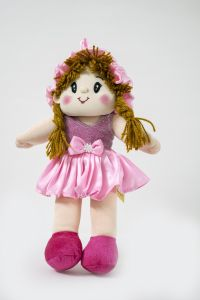 Baby Doll Girl Monica Satin Girl Pink Color By Lovely Toys(code -ltdmp_01 )