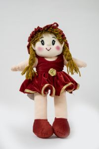 Baby Doll Girl Monica Velvet Girl Red Color By Lovely Toys By Lovely Toys (code - Ltdmvr01)