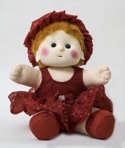 Baby Doll Girl Chamki Red Color By Lovely Toys (code - Ltdr_02)
