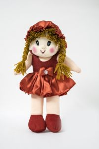 Baby Doll Girl - Monica Satin Girl - Red Color By Lovely Toys(code - Ltdmr_02)