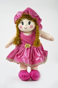 Baby Doll Girl - Dolly Velvet - Pink Color By Lovely Toys(code -ltddvp_05 )