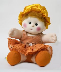 Baby Doll Girl Chamki Orange Color By Lovely Toys (code - Ltdo_05)
