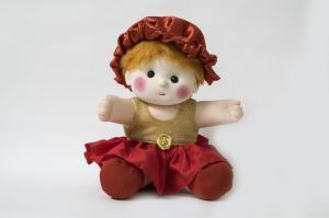 Baby Doll Girl Sania Golden/red Color By Lovely Toys ( Code - Ltdsgr_02 )