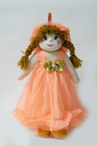 Soft Toys - Baby Doll Girl  Amaira  Peach Color by Lovely Toys(Code -LTDAMPP_04 )