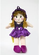 Soft Toys - Baby Doll Girl  Monica Satin Girl  Wine Color by Lovely Toys(Code -LTDMW_03 )