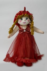 Baby Doll Girl Amaira Red Color By Lovely Toys(code - Ltdamr-03)