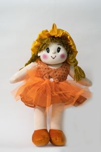 Baby Doll Girl Dolly Net Orange Color By Lovely Toys(code -ltddno_05 )