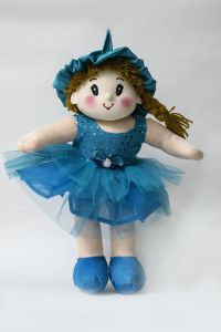 Baby Doll Girl Dolly Net Blue Color By Lovely Toys(code - Ltddnb_03)