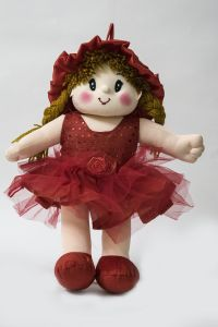 Baby Doll Girl Dolly Net Red Color By Lovely Toys(code -ltddnr_04 )
