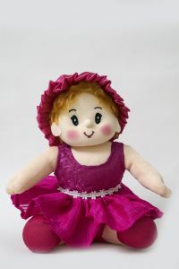 Soft Toys - Baby Doll Girl Sweety Flower Pink Color by Lovely Toys ( Code -LTDWFP_03 )