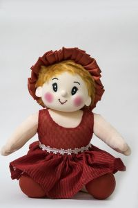 Baby Doll Girl Sweety Flower Red Color By Lovely Toys(code - Ltdwfr-04)