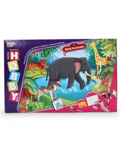 Virgo Toys Hobby Art Jr Assorted Wild Animal - Stencil Art & Craft Kit