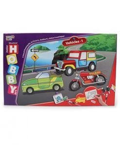 Virgo Toys Hobby Art Jr Assorted Vehicles 1- Stencil Art & Craft Kit