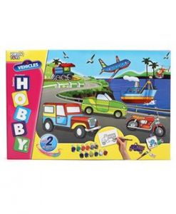 Virgo Toys Hobby Art Jr Assorted Vehicles 2- Stencil Art & Craft Kit