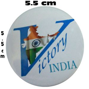 Victory India Badge - (pack Of 5)