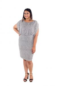 The Plum Tree Sophia Polka Dot Slimming Dress Office & Party Wear Size 5 (code - Ptcd007)