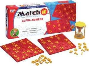 Learning, Educational Toys - Virgo Toys Match It Alpha Numero