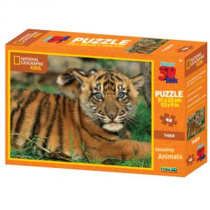 Nat Geo Big Cats - Tiger - 48pc Puzzle By Prime 3d (code - P3d-10523)