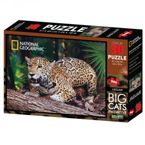 Nat Geo Jaguar 500pc Puzzle By Prime 3d (code - P3d-10025)