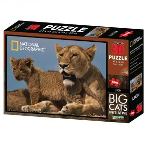 Nat Geo Lion 500pc Puzzle By Prime 3d (code - P3d-10024)