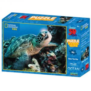 Nat Geo The Ocean - Sea Turtle 63pc Pu By Prime 3d (code - P3d-10520)