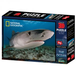 Nat Geo Tiger Shark 500pc Puzzle By Prime 3d (code - P3d-10026)