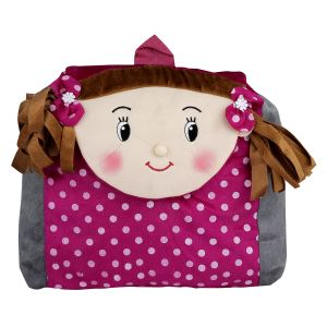 New Rackshak Girl School Bag - Purple & Grey - By Lovely Toys (code -nr05)