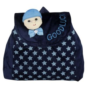 New Rackshak Good Luck - School Bag - Navy Blue - By Lovely Toys (code -nr07)