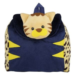 New Rakshak Cat School Bag - Yellow & Blue By Lovely Toys (code -nr08)
