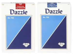 Parksons Cartamundi Plastic Coated Paper Playing Card (dazzle No.792) For Fun / Game / Party - Pack Of 2(code -p-dno-792-01)