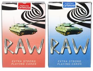 Parksons Cartamundi Plastic Coated Paper Playing Card (raw) For Fun / Game / Party - Pack Of 2 (code -p-row-01)